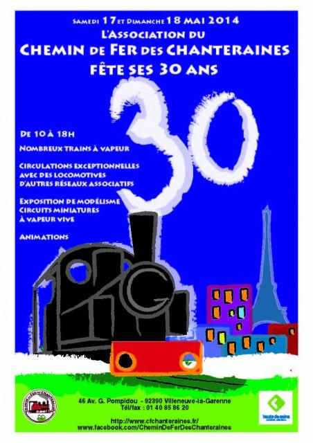 Affiche 30 ans Les Chanteraines